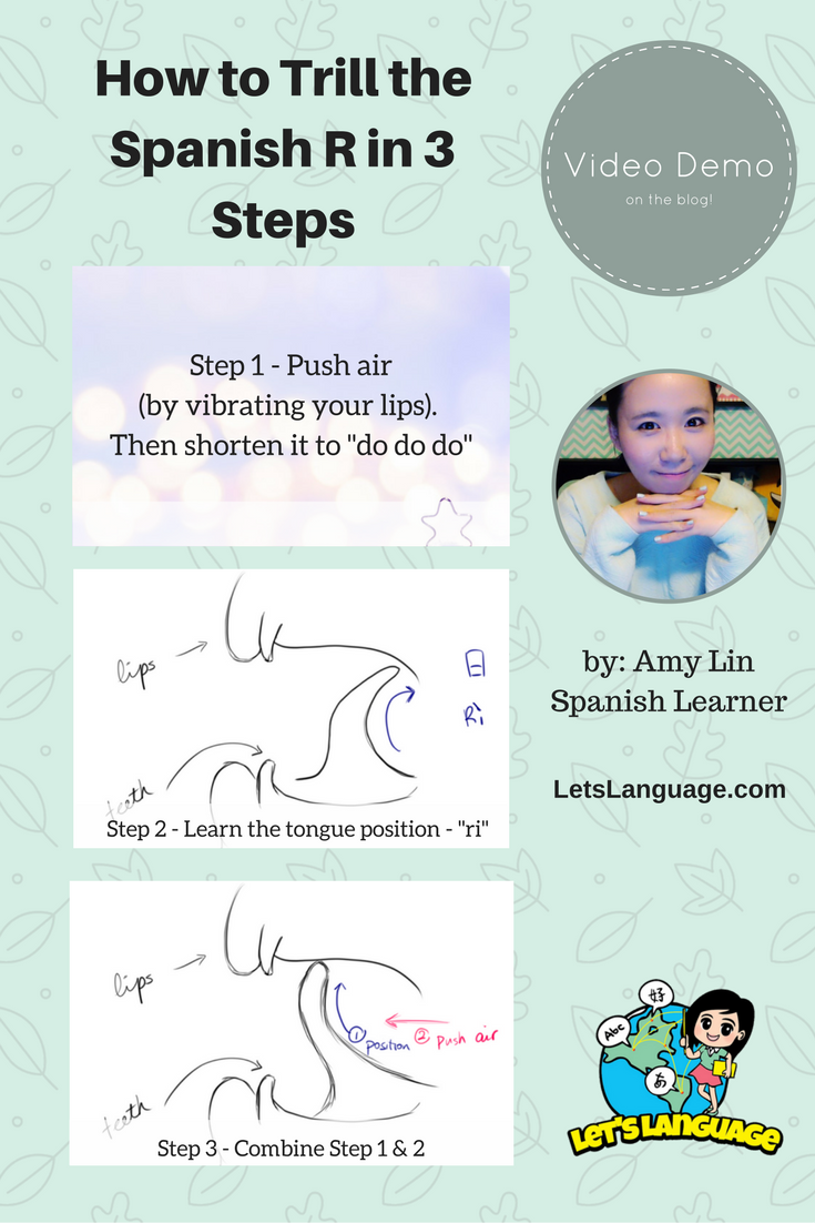 How to Trill the Spanish R in 3 Steps by a Non-Native Speaker